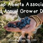 JUNE 8, 2019: MORINVILLE, AB – Haskap Alberta Association 2nd Annual Grower Day