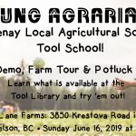 JUNE 16, 2019: KRESTOVA, BC – Tool School! with Kootenay Local Agricultural Society