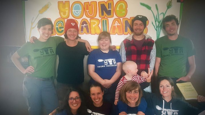 2019 Apprentices Top Row: Kay Rollans, Caroline Räbiger, Honorary Apprentice Karin Lindquist, François Julien, Johannes Fech Bottom Row: Kolby Peterson, Alex Pulwicki, Lilli Lundgard (holding the Youngest Agrarian, Björn), Emilie Girard
