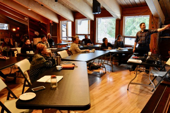 Paul Kelly from Community Futures Self Employment Program talks Farm Business Planning 101 in Vallican, 2019