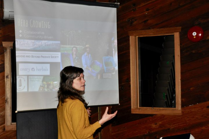 Nikola Barsoum from Half Moon Herbals talks about her business in Vallican, 2019