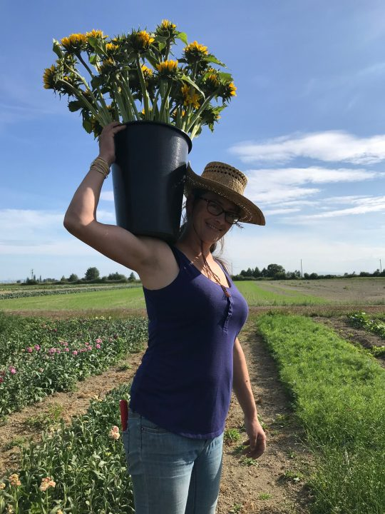 river and sea flowers, farm job, vancouver bc