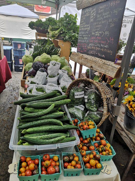 Glade Organics farm stand.