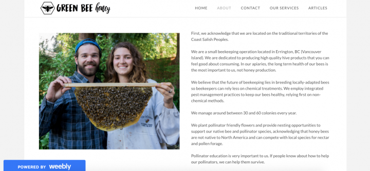 green bee honey young agrarians, ecommerce, websites, farmers