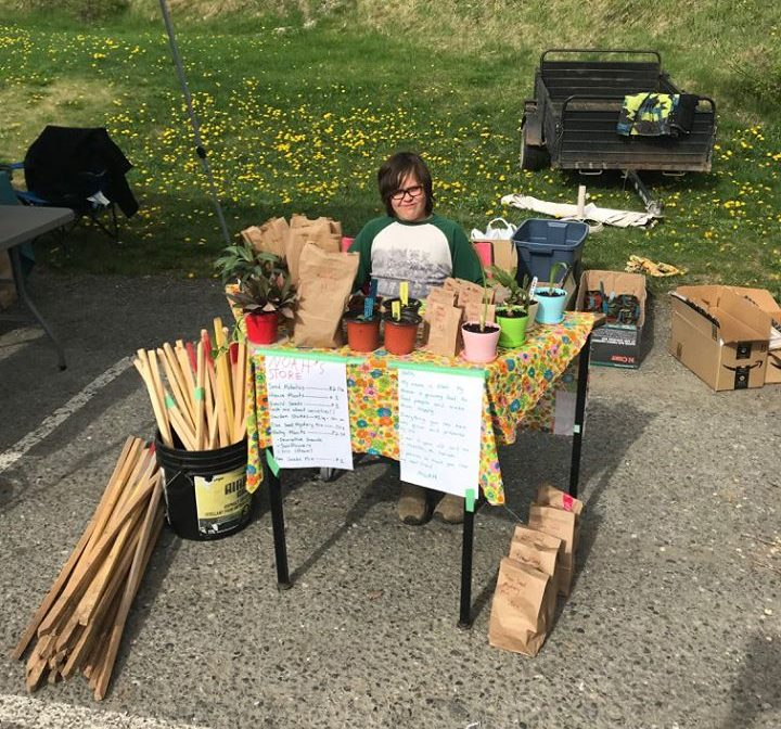 First Farmers Market - 2015, age 11