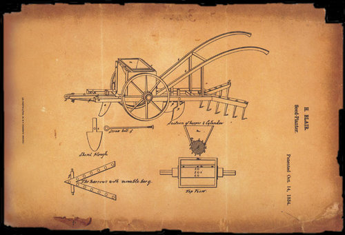 blueprints of early seed planter henry blair