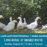 AUG 23, 2020: DUNCAN, BC – Land Social at Digable Roots