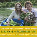 SEPT 26, 2020: NARAMATA, BC – Land Social at Puzzlegrass Farm