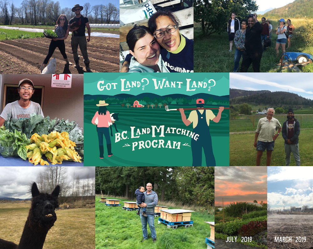 BC Land Matching Program collage - matched farmers