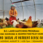 AUG 9, 2021: SQUAMISH, BC – Land Social at Nutrient Dense Farm