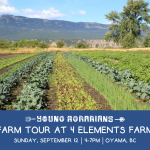 SEPT 12, 2021: OYAMA, BC – Farm Tour at 4 Elements Farm