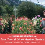 AUG 28, 2021: TARRYS, BC – Farm Tour at Stone Meadow Gardens