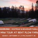 SEPT 27, 2021: BLEWETT, BC – Farm Tour at Bent Plow Farm
