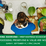 SEPT 19, 2021: ONLINE, BC – Food processing, preserving & value-add webinar
