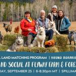 SEPT 25, 2021: SPILLIMACHEEN, BC – Land Social at Flyway Farm & Forest