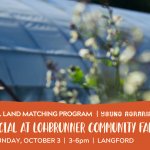 OCT 3, 2021: LANGFORD, BC – Land Social at Lohbrunner Community Farm Co-op