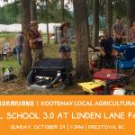 OCT 24, 2021: KRESTOVA, BC – Tool School 3.0 at Linden Lane Farms