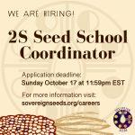 JOB: CANADA – Sovereign Seeds, 2S Seed School Coordinator